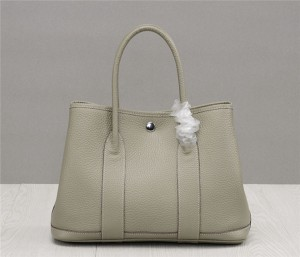 OEM Blue Soft Leather Handbags Famous Brand Garden Party Bags Lychee Natural Leather