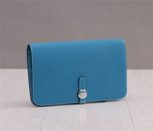 Blue Leather Purse Famous Brand
