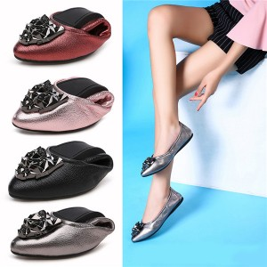 First Comfortable Lady Dance Shoes Women Soft Sole Folding Causal Shoes