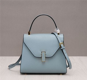 Newest Light Blue Satchel Bag Lady'S Brand Leather Bag Supplier