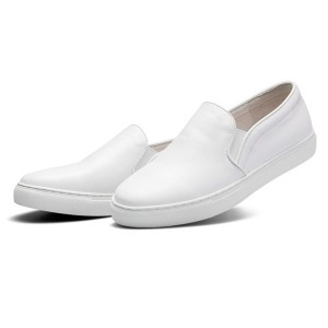 New Fashion Slip-On White Leather Loafers Shoes For Men