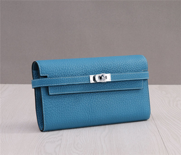 OEM Jeans Blue Togo Leather Wallets Designer Wallet Featured Image