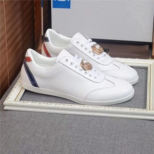 Most Popular White Genuine Leather Lace Up Trainers