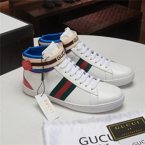 High Quality White Cowhide Ankle Designer Shoes Sneakers Exporter