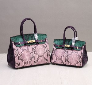 High Quality Snakeskin Grain Leather Handbags Designer Bags With Long Shoulder Strap