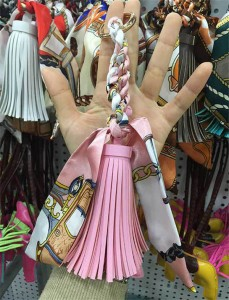 Bag Hanging Aceesory Pink Leather Tassel Bag Accessory Factory