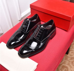Famous Brand Name Black Patent Leather Shoes Men Wedding Shoes Manufacturer