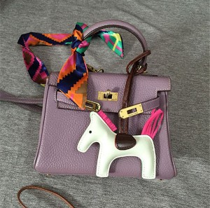 Pony Hanging Accessory Fashion Leather Accessory Women Leather Bags Accessory For Bags