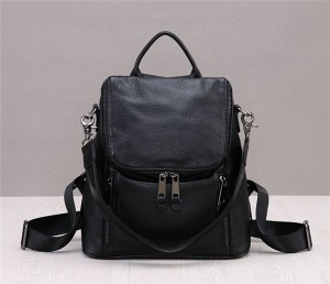 High Quality Black Cowskin Backpack Backpack Fo...