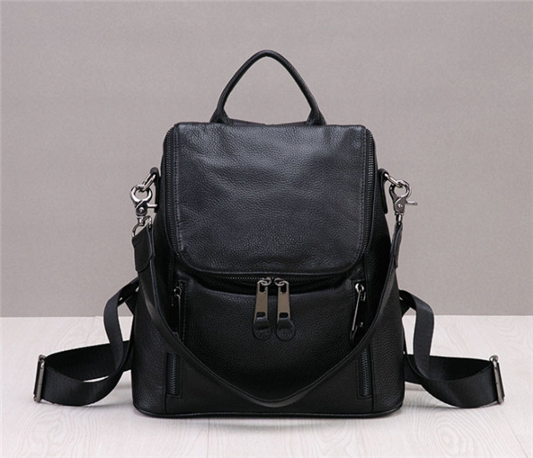 High Quality Black Cowskin Backpack Backpack For Lovers Backpacks Featured Image