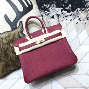 High Quality Jujube Red Togo Leather Lady Fashi...