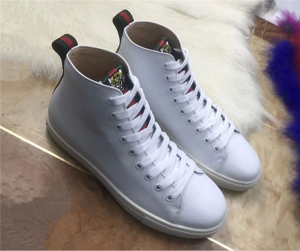 Lace Up White Cowhide Sneakers Ankle Boots For Coulpes