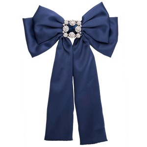 Nice Quality Famous Brand Boutonniere Women Fashion Blue Multi-Layer Ribbon Corsage