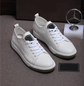 Best Quality Private Lable Lace Up Sneakers White Sheepskin Punching Sports Shoes