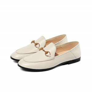 OEM High End Quality Slip-On Leather Ladies Loa...