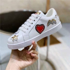 Wholesale Lace-Up Casual Sneakers Top Quality Cowhide Women Fashion Brand Sneakers