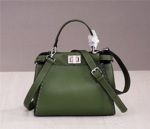 Western Style Brand High Quality Handbag Women Luxury Handbag Green Cowskin