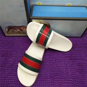 OEM Made Anti-Slip Men White Slippers Flat Beac...