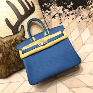 High Quality Blue Togo Leather Ladies Designer Bags Handbags Birkin 30cm & 35cm