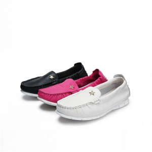 OEM ladies slip-on loafers pure white Women Cas...