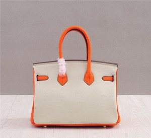 OEM Fashion Cow Skin Purses Handbags Brand Name Tote Bags Women Birkin