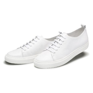 New Fashion Lace-Up White Leather Men Trainers Shoes