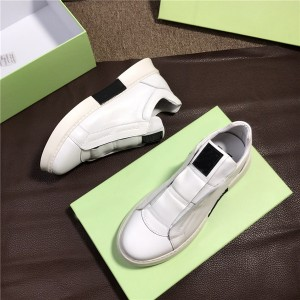 OEM Men Italian Sneakers Shoes White Leather Sneakers Supplier