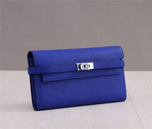 High Quality Purple TOGO Leather Clutch Kelly W...