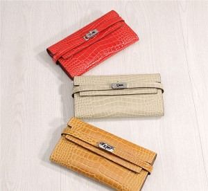 High Quality Crocodile Leather Wallets Alligato...