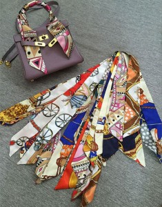 Fashion Silk Satin Scarf For Bag Decorations Silk Accessory