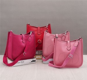 OEM Pink Cow Leather Bags Handbags For Women Branded Shoulder Bags