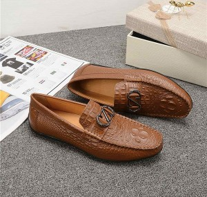 OEM Italian Tan Leather Designer Shoes Alligato...