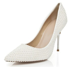 Women Luxurious Wedding Shoes With Stiletto