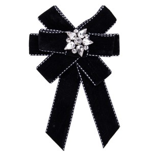 Nice Quality Famous Brand Boutonniere Women Black Multi-Layer Cotton Wool Corsage