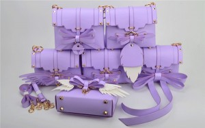 Multiple Wearing Methods Purple Bags Handbags W...