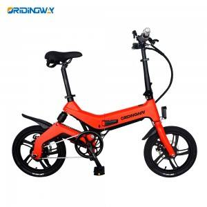 Electric folding power fat bike with removable battery ORIDINGWAY