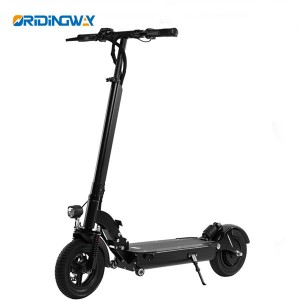 2 wheel electric kick scooter with double suspension LED lights