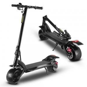 500W  solid wide wheel electric kick scooter with front rear suspension
