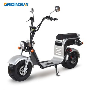 COC big wheel electric citycoco scooter chopper with two removable battery