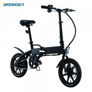 Folding electric smart bike with removable battery ORIDINGWAY