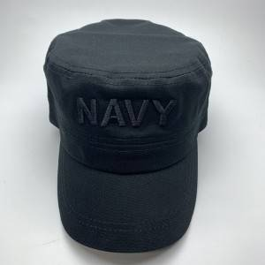 Navy Blue Military baseball cap with embroidery logo
