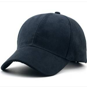 suede fabric 6 panel baseball cap