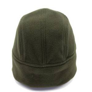 army green warm polar fleece helmet cap