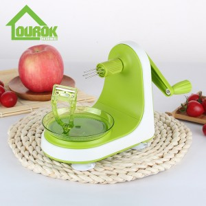 Plastic Fruit Vegetable Tools Multi-function Manual Apples Peeling Machine Hand-operated Apple Peeler X128