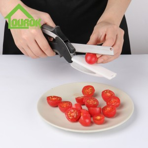 Household multi-function smart stainless steel manual kitchen clever scissor cutter knife