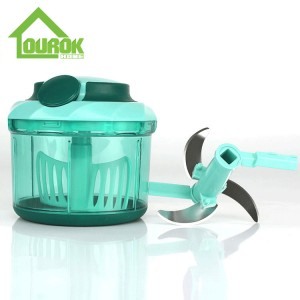Plastic manual food and vegetable chopper for kitchen A009(Blue)