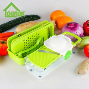 Multifunction Vegetable Cutter With 5 Blades  C318