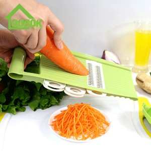 Multifunction plastic manual mandoline manual vegetable slicer grater for home use C313A