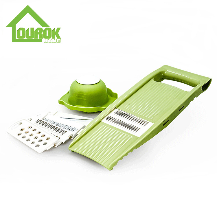 Multifunction plastic manual mandoline manual vegetable slicer grater for home use C313A Featured Image