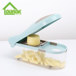 Magic stainless steel hand operated vegetable fruits chopper slicer dicer for home use C323